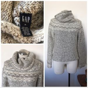 Angora blend cowl turtleneck sweater